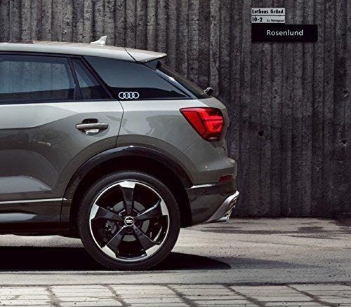 Audi - Emblema Adesivo ad Anelli, Originale Q2 – Pellicola Decorativa per la Colonna C, Colore:...