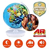 Oregon Scientific Smart Globe Myth SG102R - 2 in 1 Day and Night Globe with 3D Augmented Reality and Audio Stories   STEM Approved