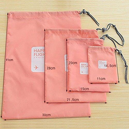 4 bolsas de viaje impermeable bolsa con cord n para for Bolsas para ropa