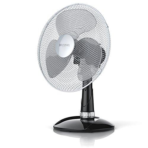 Brandson - Ventilatore da tavolo | 35cm diametro | 3 velocitá | Oscillazione di 85° | Ridotto...