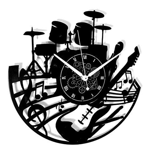 Instant Karma Clocks Orologio in Vinile da Parete LP 33 Giri Idea Regalo Vintage Handmade Casa Chitarra Musica Tastiera Batteria, Silenzioso