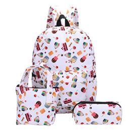 3Pcs zaini scuola di tela modello studente ragazza moda + borsa a mano + sacchetto della penna-borsa scuola studenti-Borsa da scuola di grande capacità-Borsa sportiva all'aperto-Zaino da viaggio