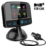 [ Bunter Bildschirm ] DAB/DAB+ Autoradio Adapter, Esuper Autoradio mit Bluetooth Freisprecheinrichtung + DAB Transmitter + FM Transmitter + Aux in/Out + TF Karte Musik Spielen + 60 Presets Stations