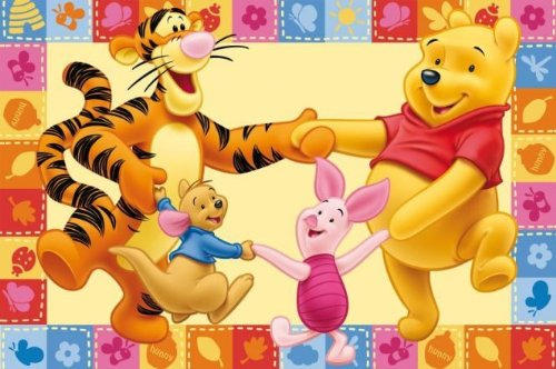 ABC Tappeto Winnie the Pooh & Friends 80 x 140 cm beige