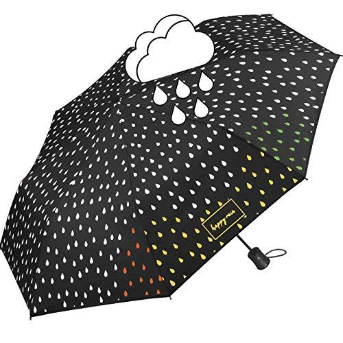 Happy Rain Mini AC waterreactive Automatik Regenschirm Umbrella Schirm 42300 Farbwechsel bei Nässe