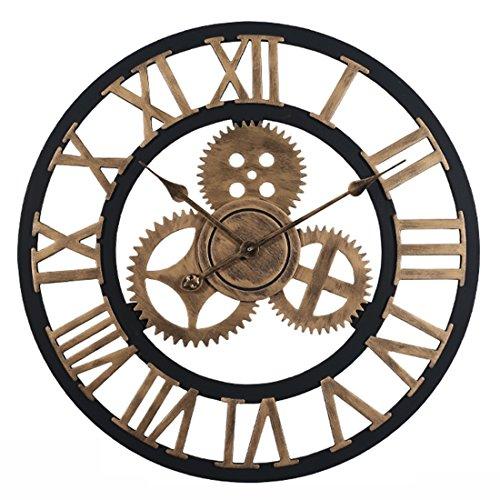OviTop 60cm Orologio da Parete Orologio da Muro Silenzioso Industriale Decorativi Design Gigante...