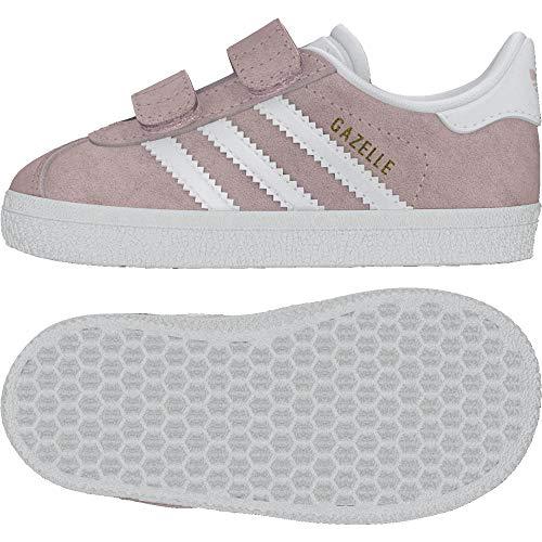 adidas Gazelle CF I, Pantofole a Collo Basso Unisex-Bimbi, Rosa (Roshel Ftwbla 000), 21 EU