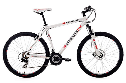 KS-Cycling-Carnivore-VTT-semi-rigide-275-Blanc-TC-51-cm
