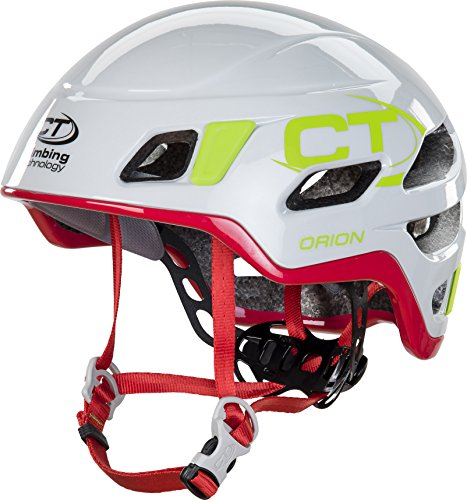 Climbing Technology Orion Helmet Light Grey/Red 2016 - Casco de Escalada, Primavera/Verano, Color Blanco - Blanco, tamaño S/M (50-60 cm)