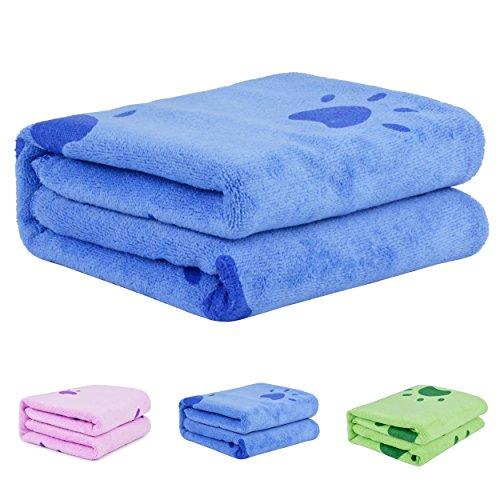 Asciugamano cane,Legendog Asciugamano per cani Asciugamano da Bagno per Cane con Asciugamano Stampato e Ultra Assorbente Asciugamano ultra assorbente in microfibra animali