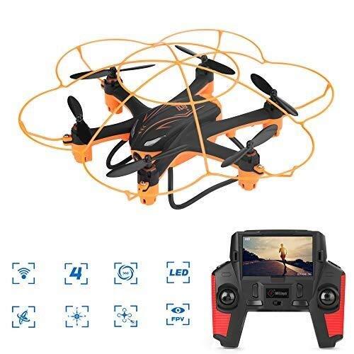 FLYSXP Drone Remoto, Mini Drone Wireless for Videocamera HD, Vibrazione 3D / modalità Senza Testa/Pulsante Singolo Indietro/Bambini E Principianti Drone remoto