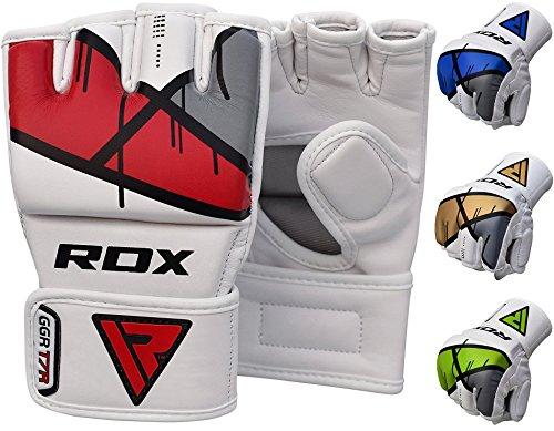 RDX MMA Guanti Maya in Cuoio Grappling MMA Gabbia Sparring Formazione Guanto