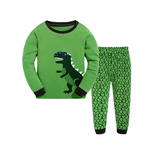 Qtake Fashion - Pijama Dos Piezas - para niño Dinosaurio 6-7 Años