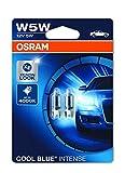 Lámpara halógena COOL BLUE INTENSE W5W de OSRAM, luz de posición y de matrícula, 2825HCBI-02B, automóvil de 12V, ampolla doble (2 unidades)