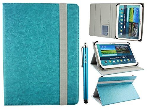 Emartbuy Universal 9-10 Pollici Turchese Angolo Multi Portafoglio Custodia Case Cover per Carte di...