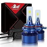 WinPower HIR2 / 9012 Led Faro Lampadina Kit di sostituzione 6000K Xeno bianca Super luminoso Lampada 12V Auto/moto Kit di aggiornamento Fendinebbia, 2 pezzi