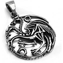 MENDINO Colgante con el símbolo de la Casa Targaryen de Juego de Tronos