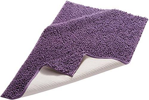 Pinzon by Amazon Badteppich, edles Schlingen-Design, baumwolle, violett, 53 x 86 cm