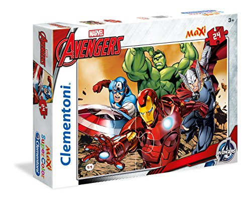 Clementoni 24037 - Avengers Maxi Puzzle, 24 Pezzi