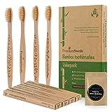Spazzolino da denti in bambù e noce di cocco carbone attivo