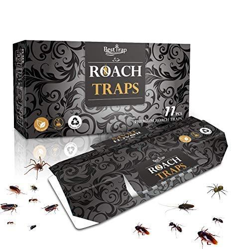 Best trap Confezione da 11 trappole per scarafaggi con Esca Inclusa, Trappola per Bastoncini Premium, Ecologica | Assassino di scarafaggi formiche Premium Non tossico
