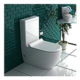 Stand WC Weiss mit Geberit Spülkasten Komplett Keramik Toilette inkl. WC-Sitz   Tiefspüler leise Absenkung Softclose WC-Set GEBERIT Spülgarnitur