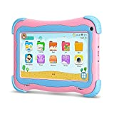YUNTAB Q91 Tablet infantil de 7 pulgadas (Android 5.1, Quad-Core,Allwinner A33, WiFi, Bluetooth, HD 1024x600, 1+16GB, Tarjeta TF 32 GB, Doble Cámara, Google Play, Juegos Educativos) (Q91, ROSE)