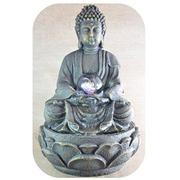 Zen Luz SCFR 8G Buddha Fuente Meditación Gran Interior Marrón Oscuro/Chocolate 21 x 21 x 30 cm 7