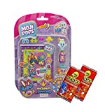 MOJIPOPS SERIES 1 4 FIGURE BLISTER PACK - (INCLUDES 4 MOJI POPS + PHOTO POP) - PLUS 2 x GoGo TRADING CARDS