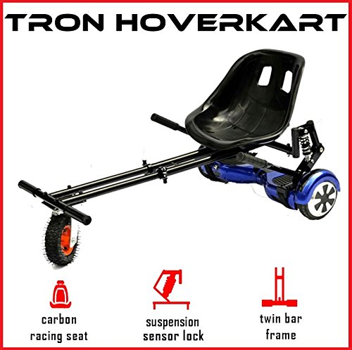 The Official TRON Carbon Black Monster Suspension Springs Hoverkart with Monster Wheel - Fits All...