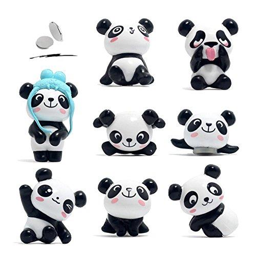 Amoboo calamite da frigo, confezione da 8simpatico panda magneti per lavagne, lavagne bianche,...
