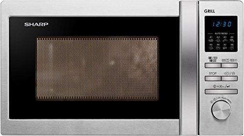 Sharp R-622STWE – Microondas (44 cm, 35,9 cm, 25,8 cm) Acero inoxidable