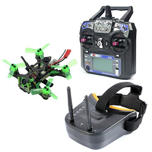 FEICHAO Mantis85 85mm RC FPV Micro Drone da corsa RTF con 600TVL Camera VTX e doppio Antenna Mini...
