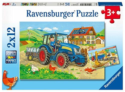 Ravensburger Costruzioni e Fattoria - Puzzle 2x12 Pezzi