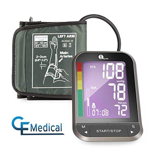 1byone Misuratore di Pressione Digitale da Braccio,Sfigmomanometro Elettronico con Monitor LCD...