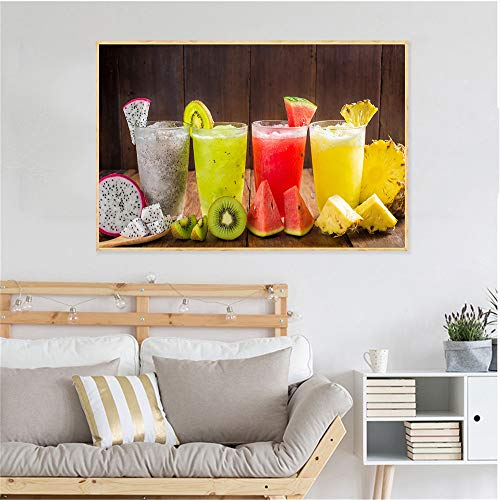 NIMCG Succo di Frutta Pittura Alimentare Bevande ghiacciate tè al Limone Poster e Stampe...