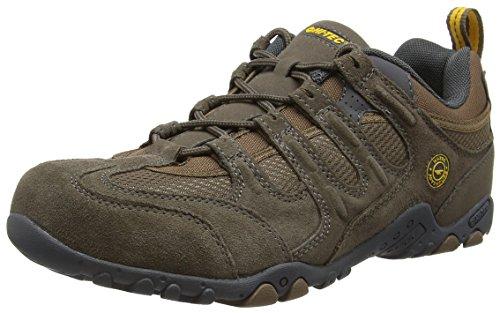 Hi-Tec Quadra Classic, Zapatillas de Senderismo para Hombre, Marrón (Smokey Brown/Taupe/Gold), 42 EU