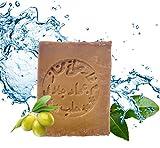 Carenesse Aleppo Seife 60% Olivenöl 40% Lorbeeröl ca. 200 Gramm, original Olivenölseife Haarseife veganes Naturprodukt - Detox - handgemacht - Duschseife