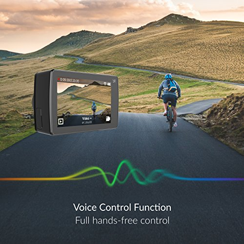 YI 4K Cámara de Acción/deportiva/cámara de video 4k Wifi Ultra HD de lente de Amplio ángulo con una pantalla táctil de 2.19pies (Negro)