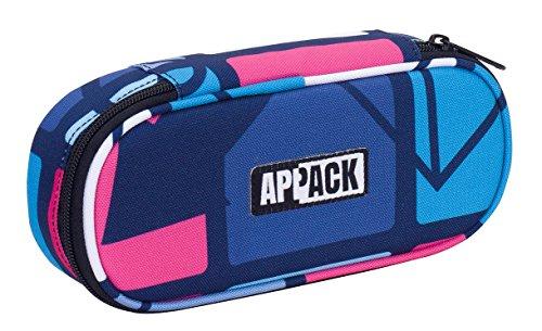 Bustina Round Plus Appack , ICON SET , Rosa Blu , Scomparto attrezzato per penne, round plus appack...