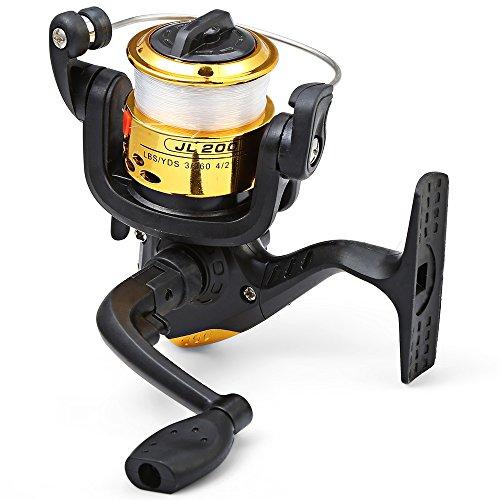 Hemore JL200Galvanotecnica mulinello da pesca spinning pieghevole braccio 3-ball cuscinetto 5.2/1filo trasparente pesca