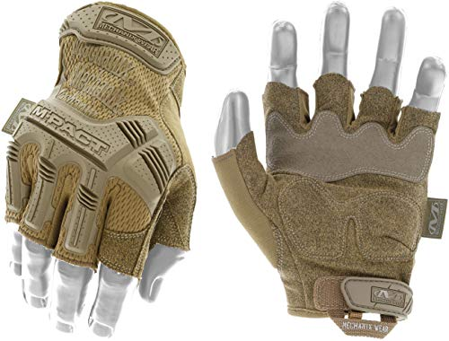 Mechanix Wear MFL-72-010 M-Pact Fingerless Guanti, Coyote, Large