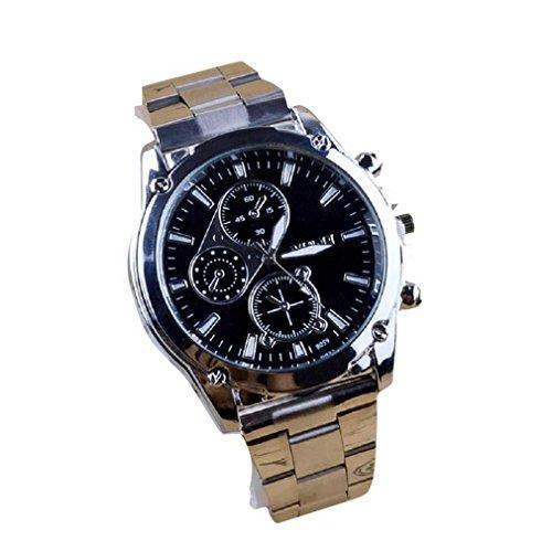 FITT Orologio da uomo da uomo Informazioni su orologio da uomo in acciaio inossidabile con cinturino...