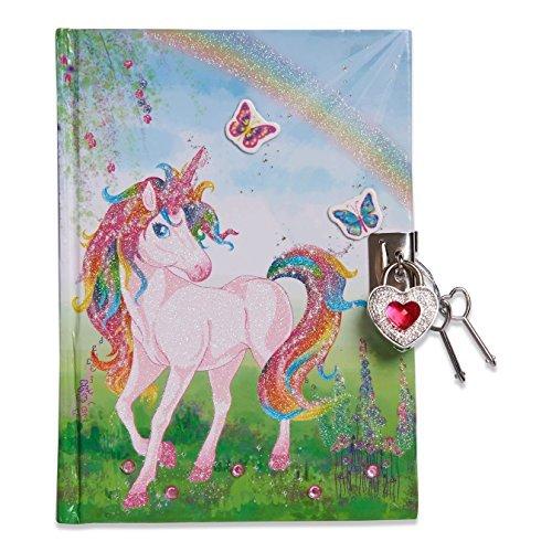 Lucy Locket Diario unicorno magico (set scrittura, carta per lettere, diario segreto con lucchetto e...