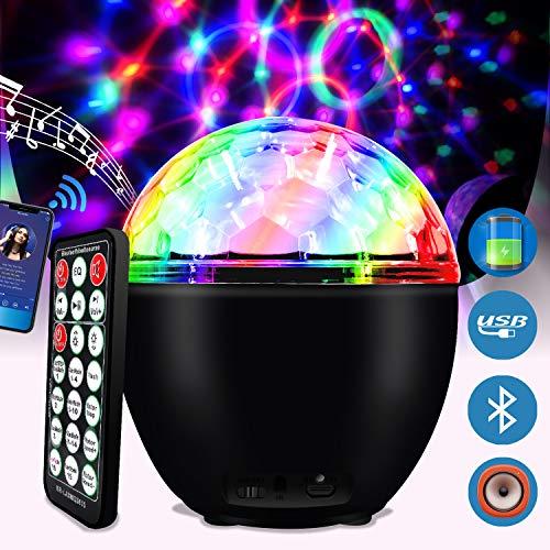 Luce da Discoteca LED 16 Colori Luci Discoteca Palla con Telecomando e USB Cavo Lampada da Discoteca...