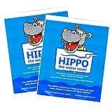 2 x Hippo Water Saver - 9L Water Saving Hippo Bags