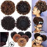 court Afro crépus Cheveux bouclés raides Wrap Cheveux synthétiques...