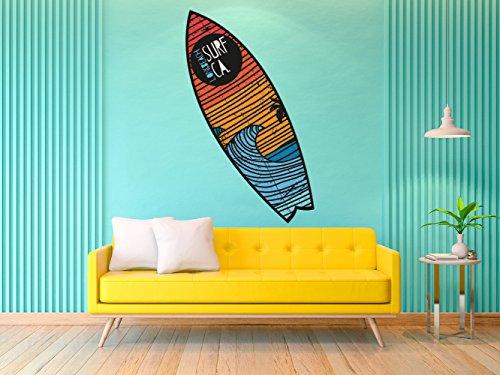 Figura Cartón Pluma Pared Tabla Shurf Long Beach Surf | Figura para paredes | Cartón Pluma Decorativo | Varias Medidas 155 x 46 cm | Decoración comedores, salones, habitaciones.