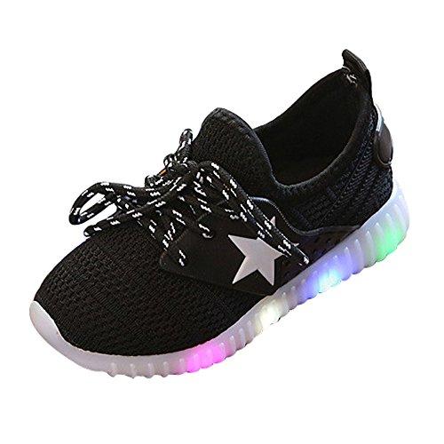 YanHoo Zapatos de niños Brillantes Zapatillas de Deporte de Moda para bebés y niños pequeños Luminous Child Casual Colorful Light Shoes Antideslizante