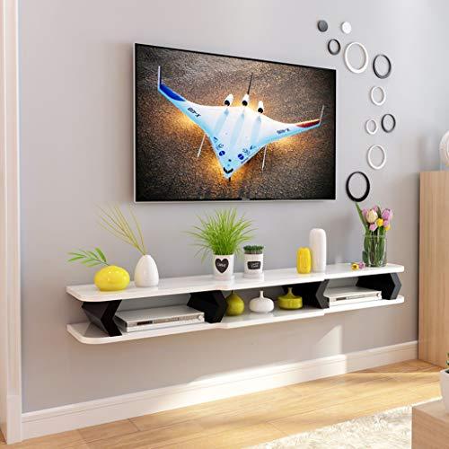 Scaffale Galleggiante Mensola pensile Mensola per TV a Muro Sfondo TV Scaffale di stoccaggio Console...